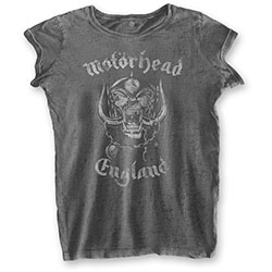Motorhead Ladies Fashion Tee: England (Burn Out)