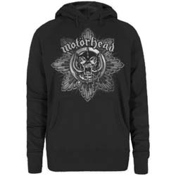 Motorhead Ladies Pullover Hoodie: Pig Badge