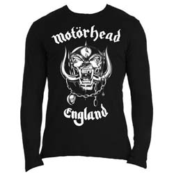 Motorhead Men's Long Sleeved Tee: England (Back Print)