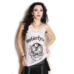 Motorhead Ladies Vest Tee: War Pig with Rhinestone Application
