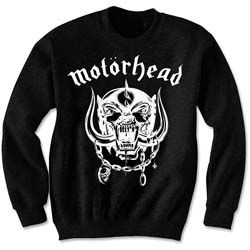 Motorhead Men's Sweatshirt: England with Puff Print Finishing