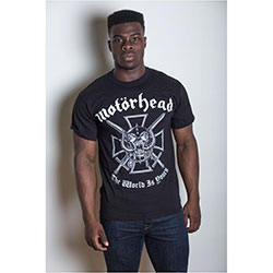 Motorhead Men's Tee: Iron Cross with Back Printing