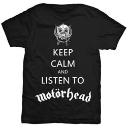 Motorhead Men's Tee: Keep Calm