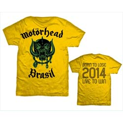 Motorhead Men's Tee: World Cup Brazil with Back Printing
