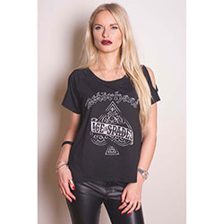 Motorhead Ladies Fashion Tee: Ace of Spades with Cut-outs