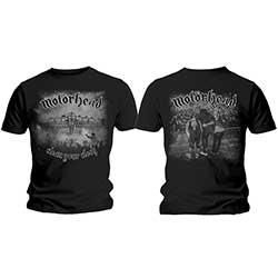 Motorhead Men's Tee: Clean Your Clock B&W with Back Printing
