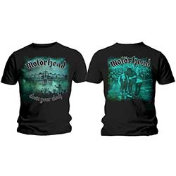 Motorhead Men's Tee: Clean Your Clock Green with Back Printing
