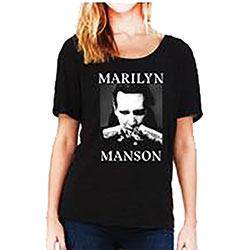 Marilyn Manson Ladies Dolman Tee: Fists (Ex Tour)