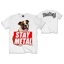 Miss May I Unisex Tee: Bull Dog (Back Print)