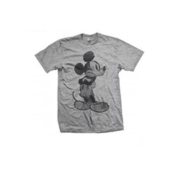 Disney Unisex Tee: Mickey Mouse Sketch