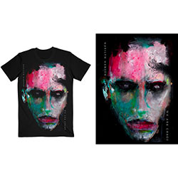 Marilyn Manson Unisex Tee: We Are Chaos Cover