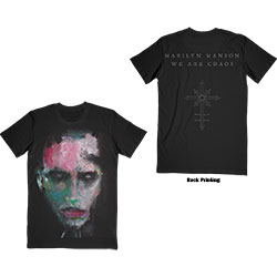 Marilyn Manson Unisex Tee: We Are Chaos (Back Print)