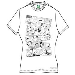 Moomins Ladies Tee: Moomin Falls In Love Comic Strip