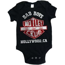 Motley Crue Kids Baby Grow: Bad Boys Shield