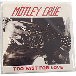 Motley Crue Greetings Card: Too Fast For Love