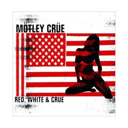 Motley Crue Greetings Card: Red & White