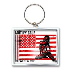 Motley Crue Keychain: Red, White & Crue (Photo-print)