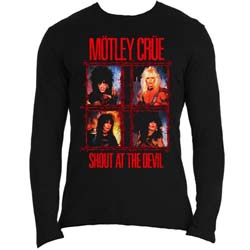 Motley Crue Unisex Long Sleeved Tee: Shout Wire