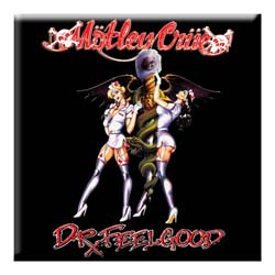 Motley Crue Fridge Magnet: Dr Feelgood Nurses