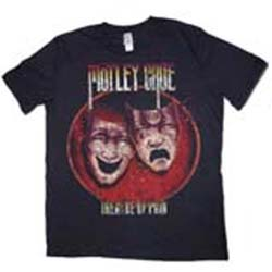 Motley Crue Unisex Premium Tee: Theatre of Pain with Puff Print Finishing