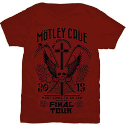 Motley Crue Unisex Tee: Final Tour