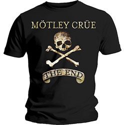 Motley Crue Unisex Tee: The End