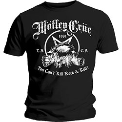 Motley Crue Unisex Tee: You Can't Kill Rock & Roll
