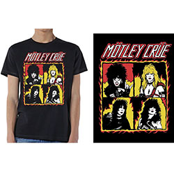 Motley Crue Unisex Tee: Shout at the Devil Flames