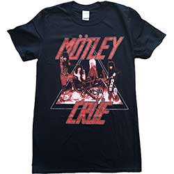 Motley Crue Unisex Tee: Too Fast Cycle
