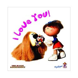 Magic Roundabout Greetings Card: Dougal & Florence