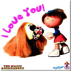 Magic Roundabout Fridge Magnet: Dougal & Florence