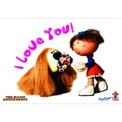 Magic Roundabout Postcard: Dougal & Florence (Standard)