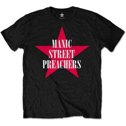 Manic Street Preachers Men's Tee: Red Star