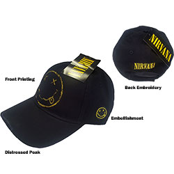 Nirvana Men's Baseball Cap: Smiley