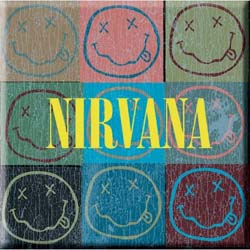 Nirvana Fridge Magnet: Smiley Blocks
