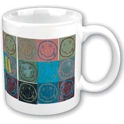 Nirvana Boxed Standard Mug: Distressed Smiley Blocks