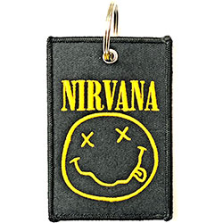 Nirvana Keychain: Smiley (Double Sided Patch)