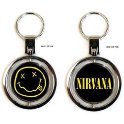 Nirvana Premium Keychain: Smiley Logo (Spinner)