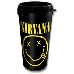Nirvana Travel Mug: Smiley with Plastic Body