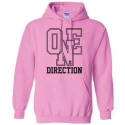 One Direction Ladies Pullover Hoodie: Athletic Logo (SMALL ONLY)