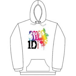 One Direction Ladies Pullover Hoodie: Rainbow Group
