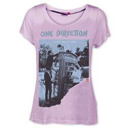 One Direction Ladies Tee: Take Me Home Ripped with Skinny Fitting