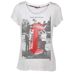 One Direction Ladies Tee: Take Me Home with Skinny Fitting