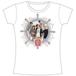 One Direction Ladies Tee: Nautical (Skinny Fit)