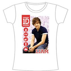 One Direction Ladies Tee: 1D Liam Symbol Field (Skinny Fit)