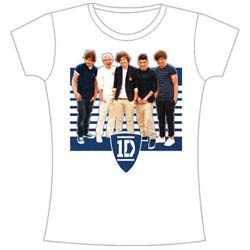 One Direction Ladies Tee: One Ivy League Stripes (Skinny Fit)