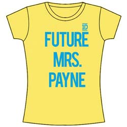 One Direction Ladies Tee: Future Mrs Payne (Skinny Fit)