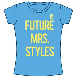 One Direction Ladies Tee: Future Mrs Styles (Skinny Fit)
