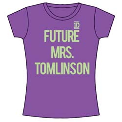 One Direction Ladies Tee: Future Mrs Tomlinson (Skinny Fit)