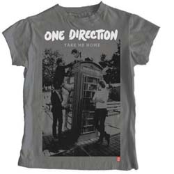 One Direction Ladies Tee: Take Me Home Album with Skinny Fitting